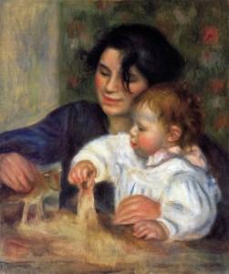 Gabrielle y Jean Renoir, 1895