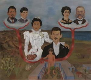 Mis abuelos, mis padres y yo. Frida, 1936
