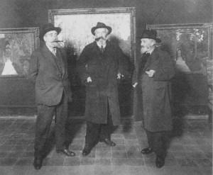 Casas, Rusiñol y Clarasó en la sala Parés