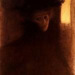 1897 dama con capa