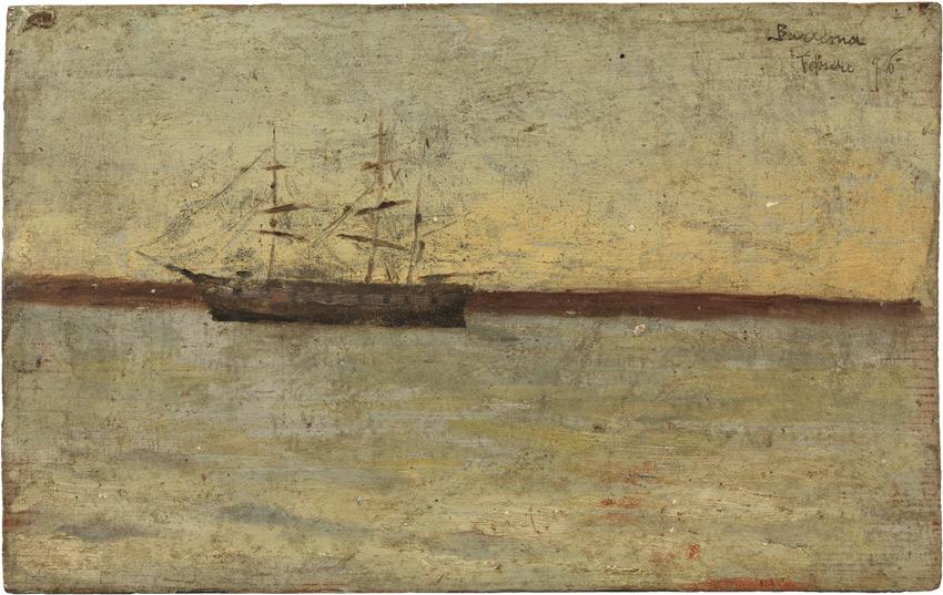 Escollera con un velero, 1896. Museo Picasso