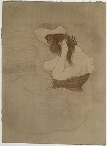 Mujer peinandose, 1896. Picasso
