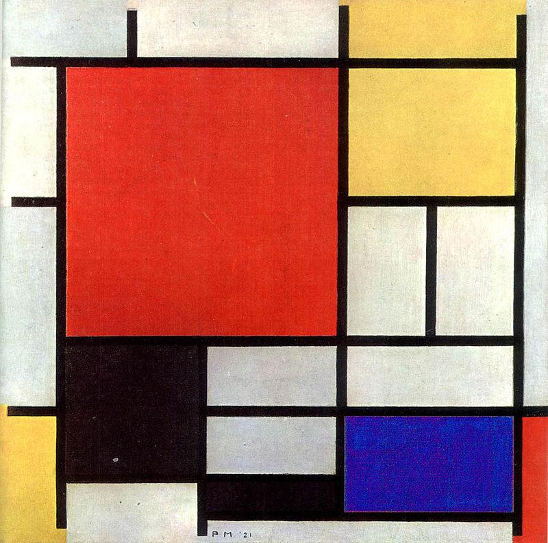 Piet Mondrian Composición en rojo, amarillo, azul y negro, 1926.