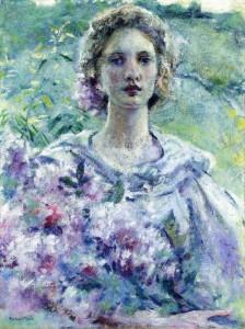 Robert Reid-Girl with Flowers