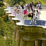 park Güell, plaza sobre columnas