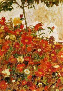 Egon Schiele-Campo de Flores, 1910, col priv