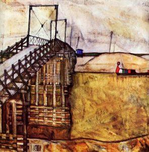 Egon Schiele-El puente, 1913, col privada