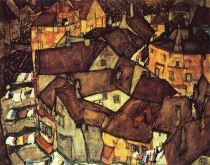 Egon Schiele-Krumau Town Crescent, 1915. Museo de Israel
