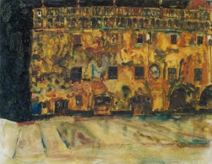 Egon Schiele-Krumau Town Hall II, 1911
