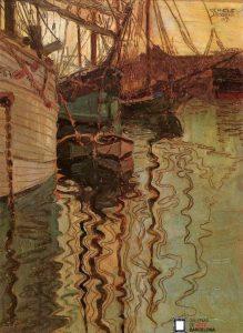 Egon Schiele-Puerto de Trieste, 1907