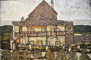 Egon Schiele - House with Shingle Roof (Old House II), 1915