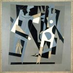 Picasso-Arlequín y mujer con collar, 1917, Centro Pompidou