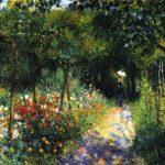 Renoir-Mujer en el jardín, 1873, col privada