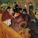 Toulouse-Lautrec, At the Moulin Rouge, 1892-1895, Art Institute of Chicago.