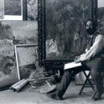 Joaquin Mir en su estudio en 1904.