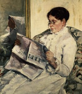 Mary Cassatt, Reading Le Figaro ,Portrait of Her Mother, 1878