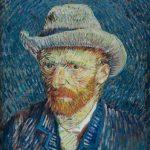 Van Gogh Autorretrato con sombrero gris