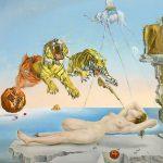 Dalí 'Sueño causado por el vuelo de una abeja alrededor de una granada un segundo antes del despertar', 1944