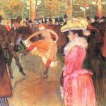 Toulouse-Lautrec, Baile en el Moulin Rouge, 1890, Museo de Arte de Filadelfia.