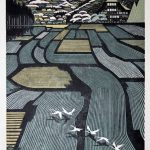 Ray Morimura, Houses in Tamugimata, 1999, Woodblock