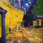 Arles, Terraza de café por la noche