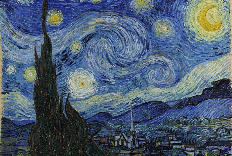 Van Gogh-La noche estrellada, 1889. MoMA