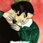 Los amantes en rosa, 1916, col. Tchounovskaya de San Petersburgo